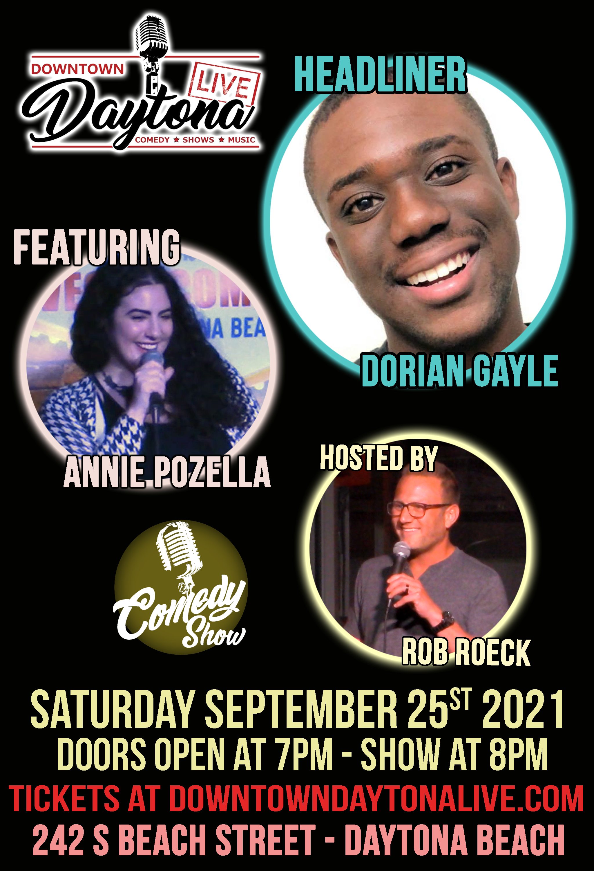 Comedy Night with Dorian Gayle and Annie Pozella @ Downtown Daytona Live
